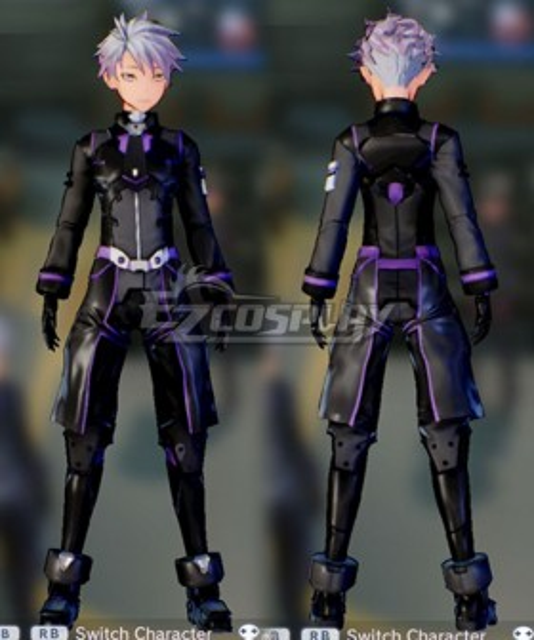 Sword Art Online: Fatal Bullet Male Protagonist Black Purple Skin Cosplay Costume