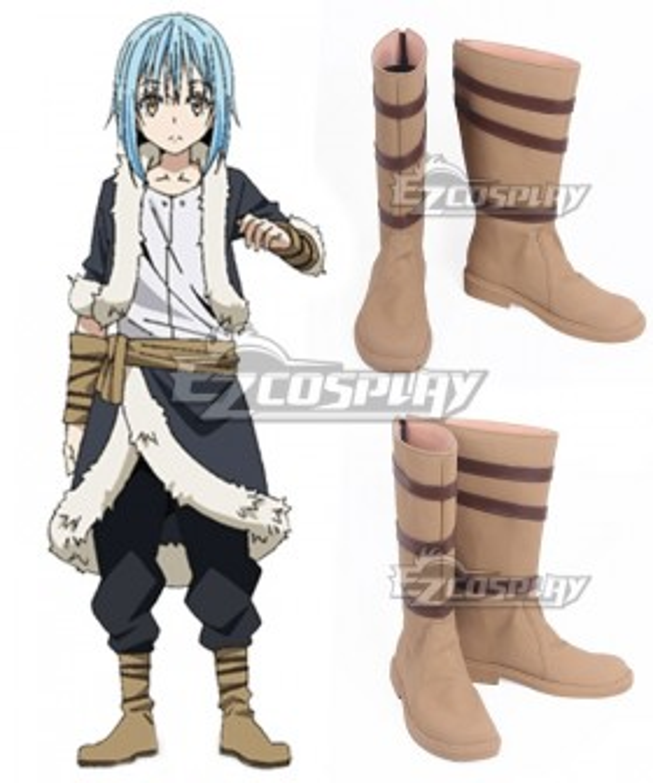 That Time I Got Reincarnated As A Slime Tensei Shitara Suraimu Datta Ken Rimuru Yellow Brown Shoes Cosplay Boots