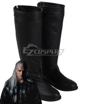 The Witcher Netflix Geralt Of Rivia Black Shoes Cosplay Boots