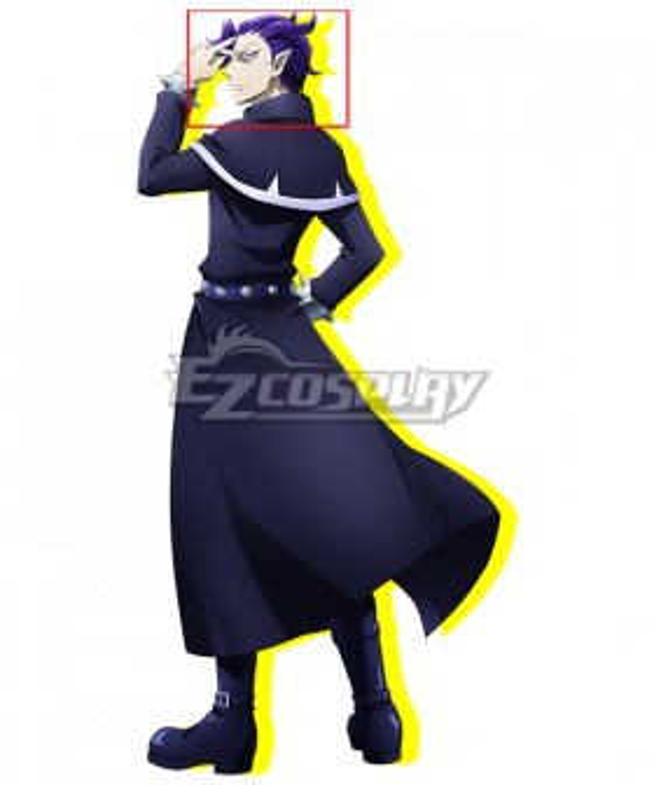 Welcome to Demon School! Iruma-kun Naberius Callego Blue Purple Cosplay Wig