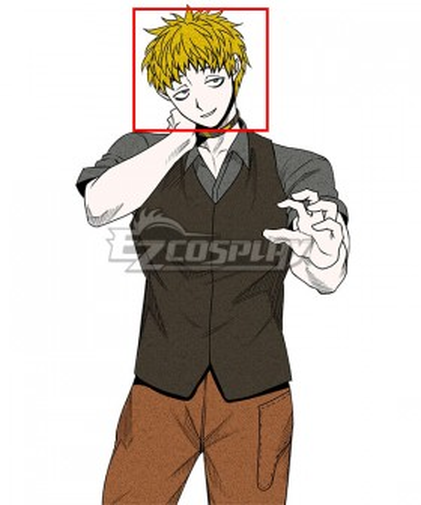 Your Turn to Die Keiji Shinogi Golden Cosplay Wig