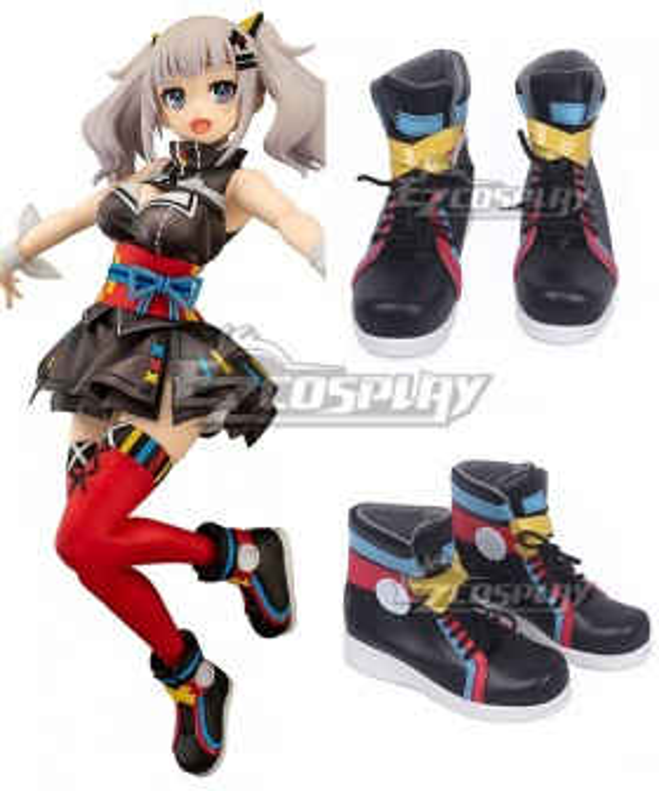 YouTuber Kaguya Luna Black Red Cosplay Shoes