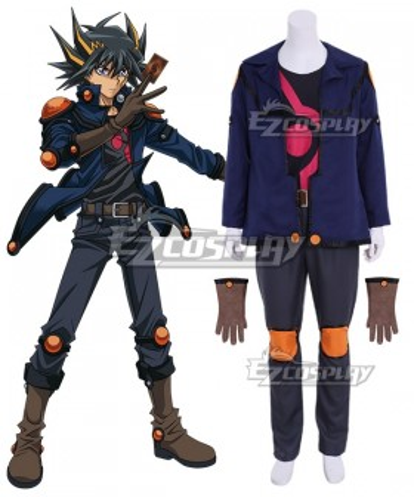 Yu-Gi-Oh! Yugioh 5D's Fudo Yusei Cosplay Costume