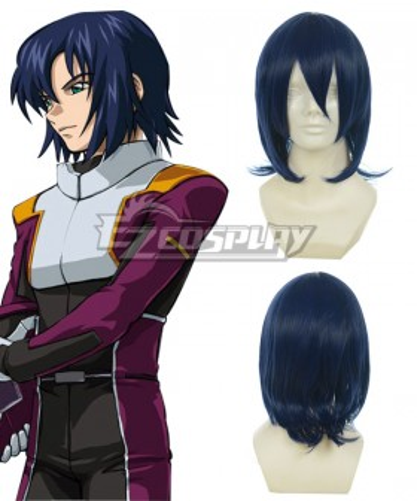 Gundam Seed Athrun Zala Dark Blue Cosplay Wig-010A