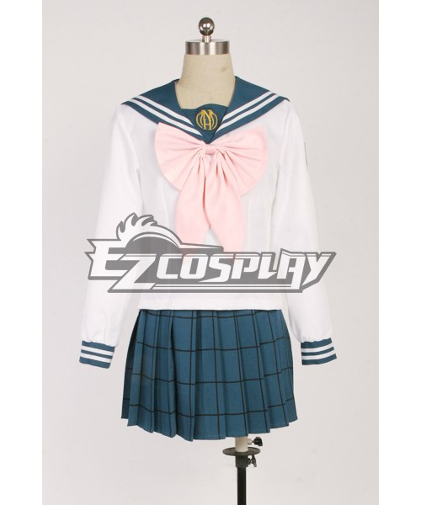 Cosplay Danganronpa Dangan-ronpa Sayaka Maizono Uniform Costume Suit Wig Shoes