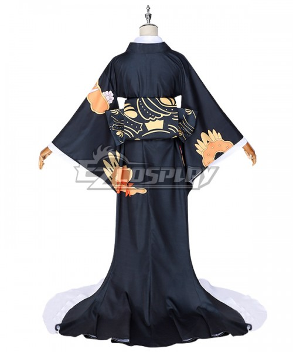 Details about  /Kimetsu No Yaiba Kibutsuji Muzan Women Cosplay Costume Kimono Dress Suit Wuqi1