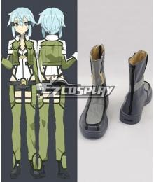 Sword Art Online II SAO Gun Gale Online GGO Asada Shino Sinon Shinon Hecate Flat Boots Cosplay Shoes