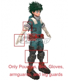 My Hero Academia Boku No Hero Akademia Izuku Midoriya Deku New Edition Gamma Suit 2.0 Cosplay Costume -Only  Pouches, Belt, Gloves, armguards, and leg guards