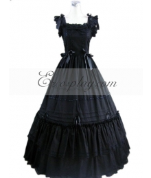 Black Sleeveless Gothic Lolita Dress-LTFS0106