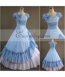 Blue Sleeveless Gothic Lolita Dress-LTFS0108