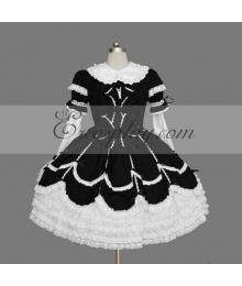 Black-White Gothic Lolita Dress -LTFS0113
