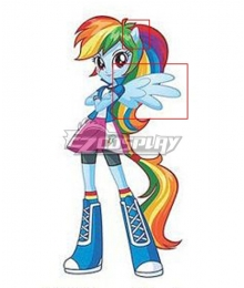 My Little Pony Equestria Girls Rainbow Dash Ears Wings Cosplay Accessory Prop