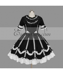 Black-White Gothic Lolita Dress -LTFS0121