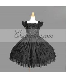 Black Gothic Lolita Dress -LTFS0129