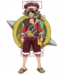 One Piece: Stampede 2019 Movie Monkey D Luffy Cosplay Costume - Only Hat Pants