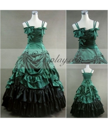 Green Sleeveless Gothic Lolita Dress-LTFS0012