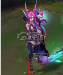 League of Legends LOL Star Guardian 2019 Xayah Purple Shoes Cosplay Boots