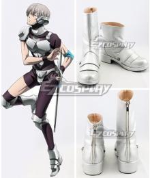 12 Taisen Juuni Taisen Nezumi Silver Shoes Cosplay Boots
