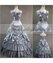 Gray Sleeveless Gothic Lolita Dress-LTFS0013