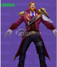League of Legends Graves Battle Academia skin Cosplay Costume - Only Coat
