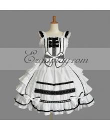 White Gothic Lolita Dress -LTFS0141