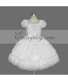 White Gothic Lolita Dress -LTFS0145