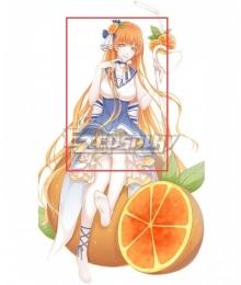 Food Contract Game Orange Juice Orange Cosplay Wig