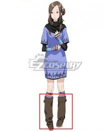 Zero Escape: The Nonary Games June Kanny Akane Kurashiki Brown Shoes Cosplay Boots