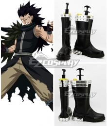Fairy Tail Phantom Lord Dragon Slayer Gajeel Reitfox Black Cosplay Shoes