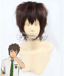 Kimi no Na wa. Kiminonawa Taki Tachibana Brown Cosplay Wig