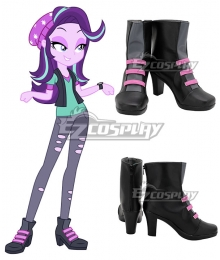 My Little Pony Equestria Girls Starlight Glimmer Black Purple Cosplay Shoes