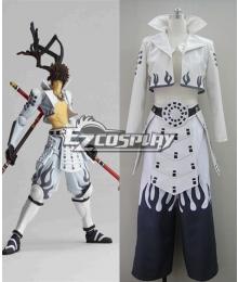Devil Kings Sengoku Basara Yukimura Sanada White Cosplay Costume