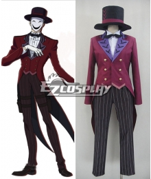 Black Bullet Kagetane Hiruko antagonist Promoter  Initiator White Smile Mask Man Cosplay Costume - Only the Red Tail Coat