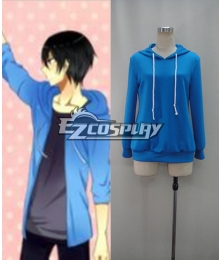Free! Iwatobi Swim Club Haruka Nanase school uniform Cosplay Costume Hoodie
