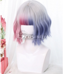 Japan Harajuku Lolita Series Dream Butterfly Pink Blue Cosplay Wig