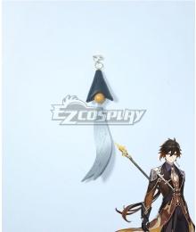 Genshin Impact Zhongli Earring Cosplay Accessory Prop