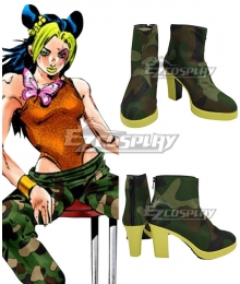 JoJo's Bizarre Adventure: Stone Ocean Jolyne Cujoh 14 Years Green Cosplay Shoes