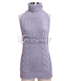 2018 Cosplay Sexy Open Chest Virgin Killer Backless Sweater Cosplay Costume