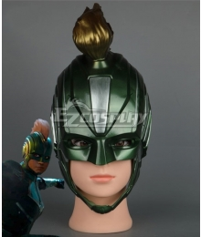 2019 Movie Captain Marvel Carol Danvers Blue Green Helmet Cosplay Accessory Prop