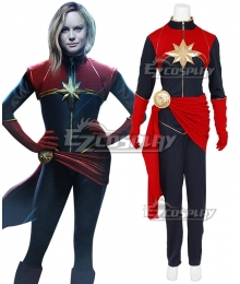2019 Movie Captain Marvel Carol Danvers Cosplay Costume