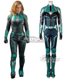 2019 Movie Captain Marvel Carol Danvers Printed Cosplay Costume - A Edition
