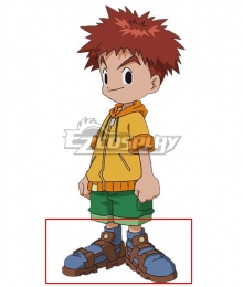 2020 Digimon Adventure Izumi Koshiro Blue Cosplay Shoes