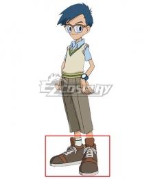 2020 Digimon Adventure Joe Kido  Grey Cosplay Shoes
