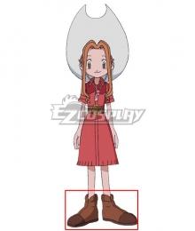 2020 Digimon Adventure Mimi Tachikawa Brown Cosplay Shoes