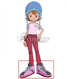 2020 Digimon Adventure Sora Takenouch Pink Cosplay Shoes