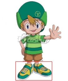 2020 Digimon Adventure Takeru Takaishi Green Cosplay Shoes