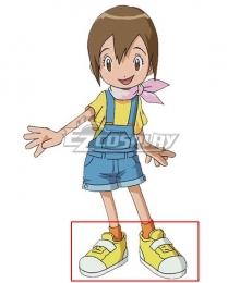 2020 Digimon Adventure Yagami Hikari Yellow Cosplay Shoes