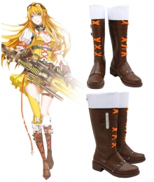 The King's Avatar Quan Zhi Gao Shou Su Mucheng Dancing Rain Cleansing Mist Brown Shoes Cosplay Boots