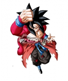 Super Dragon Ball Heroes Son Goku Kakarotto SSJ4 Xeno Cosplay Costume
