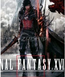 Final Fantasy XVI FF16 Clive Rosfield Time Skip Black Shoes Cosplay Boots